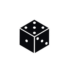 isolated die icon dice element can be us vector image vector image