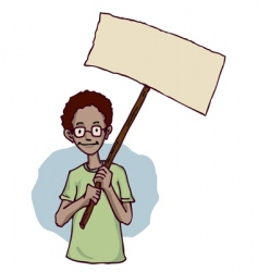 protesting vector image