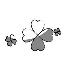 saint patrick clover leaf vector image
