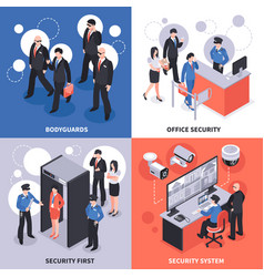 security isometric design concept vector image