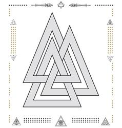 Set of geometric hipster shapes 9znkl72211de vector image