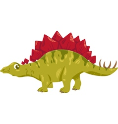 stegosaurus dinosaur cartoon vector image vector image