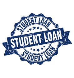 Student loan stamp sign seal vector