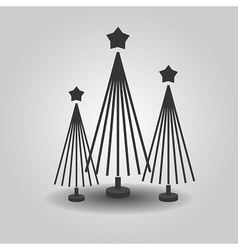 Stylized triple christmas trees vector image vector image