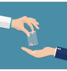 Taking the pills vector image vector image
