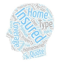 Tips On Homeowners Insurance Simplified text vector image