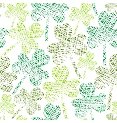 vintage seamless clover pattern vector image
