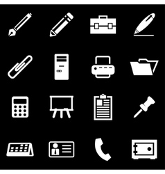 white notes icon set vector image