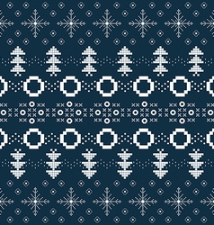 Winter or Christmas background with Norway knitted vector image vector image