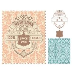 Retro stamp Nautical design vector image