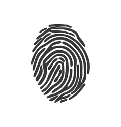 Fingerprint security system icon graphic vector