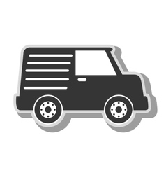 Cargo van vehicle icon vector
