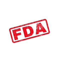 Fda text rubber stamp vector