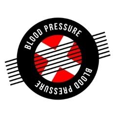 Blood pressure rubber stamp vector