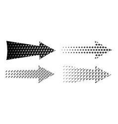 Arrow set textured various symbols black arrows vector