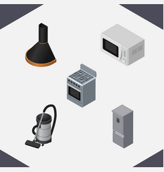 Isometric device set of air extractor microwave vector