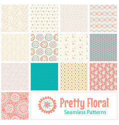 summer floral seamless patterns vector image
