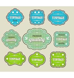 Vintage labels retro style set vector