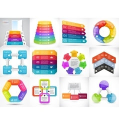 3D arrows infographic diagram graph vector image vector image