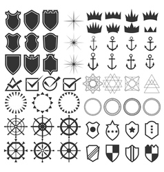 Retro design elements collection set of vintage vector
