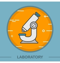 Microscope color icon vector