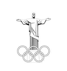 Sculpture jesus vector