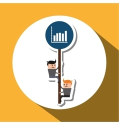 Project design Businessman icon Infographic vector image
