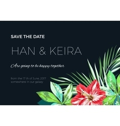 Wedding invitaion or card design with exotic vector