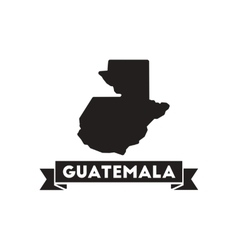 Flat icon in black and white map guatemala vector