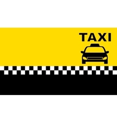 Business taxi card vector