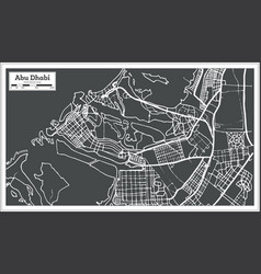 Abu dhabi uae map in retro style vector