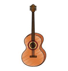 Acoustic guitar music instrument vector