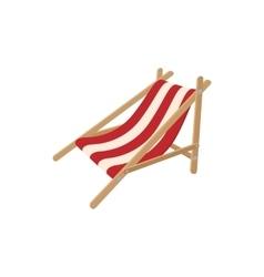 Beach chaise icon cartoon style vector