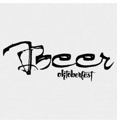 Beer fest oktoberfest- vintage typography emblem vector