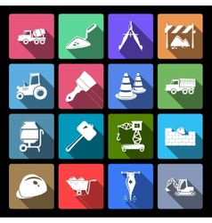 Construction Icons Set Flat vector image vector image