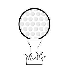 Figure golf ball to play game vector