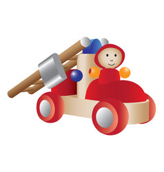 firetruck toy vector image