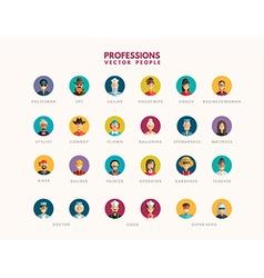 Flat design professional people avatar icon set vector