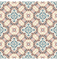Floral pattern blue brown curve elements vector