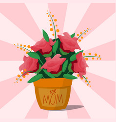 Flower pot botanical natural blossom flora vector