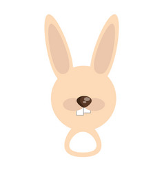 Head cute rabbit animal image vector