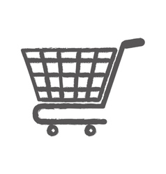 Isolated cart shopping vector image