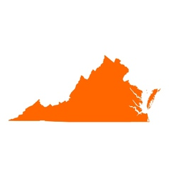 Map of Virginia vector image