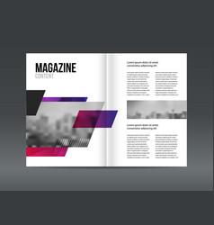 Modern brochure layout design template vector