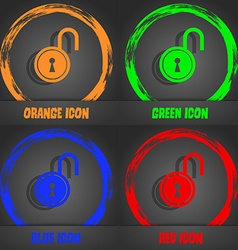 Open lock icon fashionable modern style in the vector