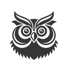 Owl hipster simple style logo on white background vector