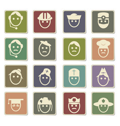 Profession icon set vector