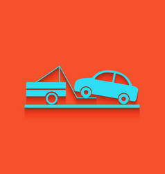 Tow truck sign whitish icon on brick wall vector
