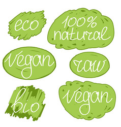 Vegan day colorfull set vector