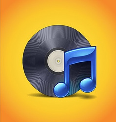 Vinyl And Note vector image vector image